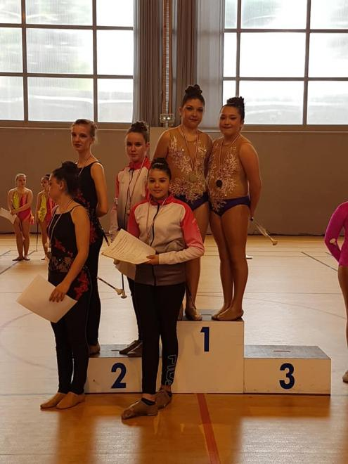 Podium duo cadette